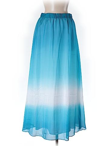 White House Black Market Women Silk Skirt Size M (Petite)