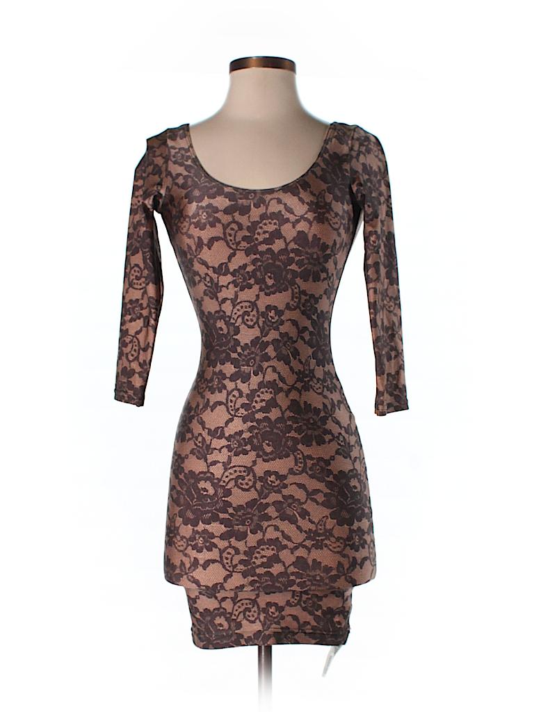 696aa11232f American Apparel Lace Tan Casual Dress Size S - 65% off