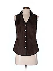 Ann Taylor Factory Women Sleeveless Button-Down Shirt Size 2