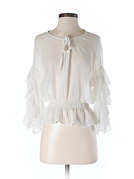 Ya Los Angeles 3/4 Sleeve Silk Top Size S