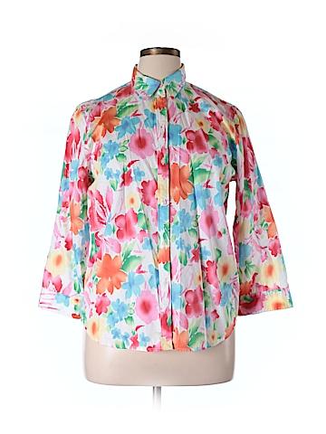 Chaps  3/4 Sleeve Button-Down Shirt Size XL