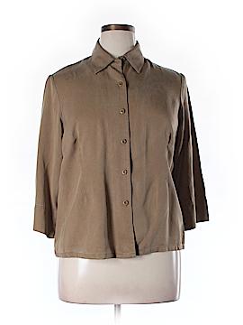 Pendleton 3/4 Sleeve Button-Down Shirt Size 1X (Plus)