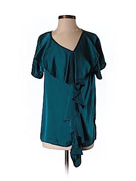 James Coviello Short Sleeve Silk Top Size 4