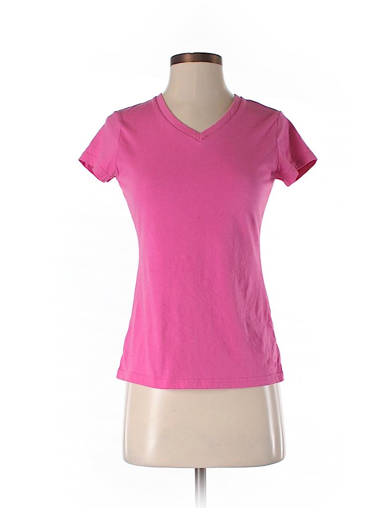 1fb7f18b Champion 100% Cotton Solid Pink Short Sleeve T-Shirt Size XS - 93 ...