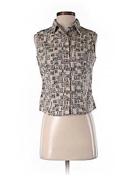 Roper Sleeveless Button-Down Shirt Size S