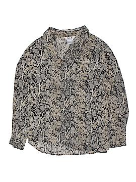 S.L.B. Long Sleeve Silk Top Size 1X (Plus)