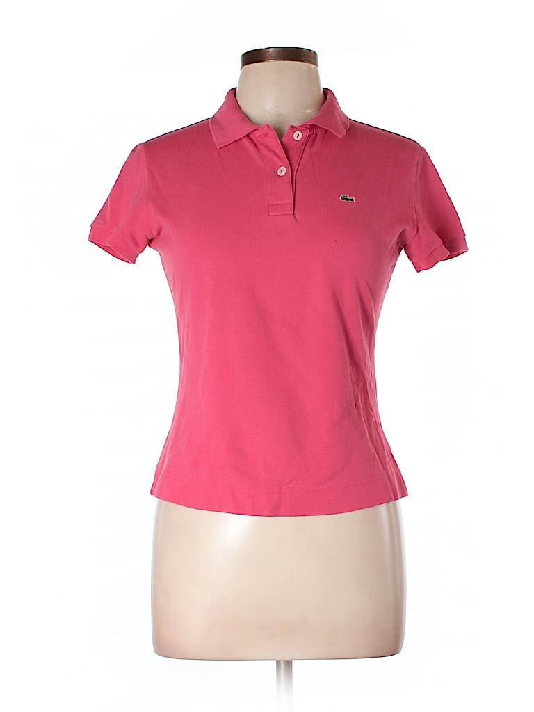 lacoste solid pink short sleeve polo size 42 eu 78 off thredup. Black Bedroom Furniture Sets. Home Design Ideas