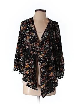 Meadow Rue 3/4 Sleeve Silk Top Size S