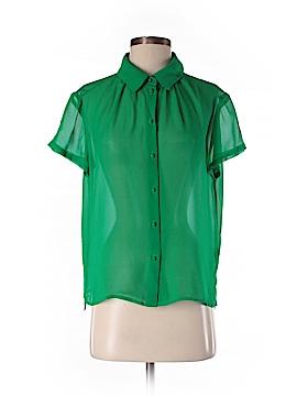 Otte Short Sleeve Silk Top Size M