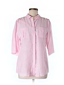 Island Company 3/4 Sleeve Button-Down Shirt Size M