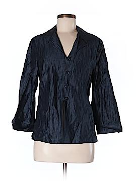 Louben 3/4 Sleeve Button-Down Shirt Size 10