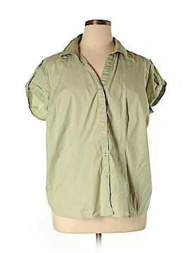 A.L.C. Short Sleeve Button-Down Shirt Size 2X (Plus)