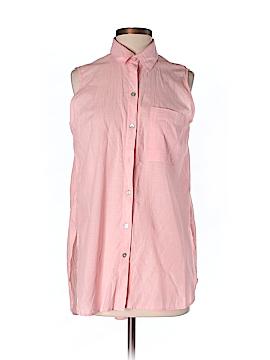 Beach Lunch Lounge Sleeveless Button-Down Shirt Size M
