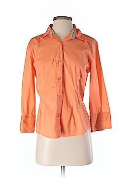 Bill Blass 3/4 Sleeve Button-Down Shirt Size S