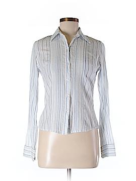Cotton Express Long Sleeve Button-Down Shirt Size M