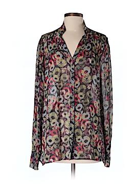 Hinge Long Sleeve Silk Top Size 1