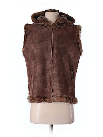 Lord & Taylor Women Faux Fur Vest Size Sm - Med