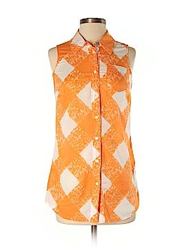 Boden Sleeveless Button-Down Shirt Size 2