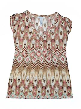 Lizwear by Liz Claiborne Short Sleeve Blouse Size S