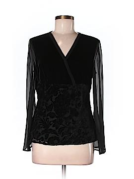 Silk Land Long Sleeve Silk Top Size 8