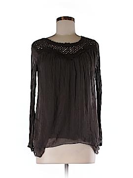 Carla Conti Long Sleeve Silk Top Size XS