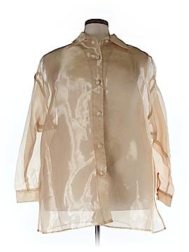 Silhoutte 3/4 Sleeve Button-Down Shirt Size 26 (Plus)