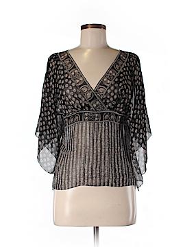 Max Studio 3/4 Sleeve Silk Top Size M (Petite)
