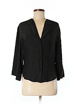 Emporio Armani Long Sleeve Silk Top Size 6