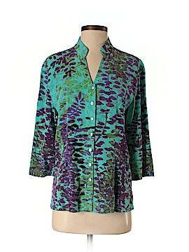 Tianello 3/4 Sleeve Button-Down Shirt Size S