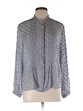 Soft Surroundings Long Sleeve Silk Top Size L (Petite)