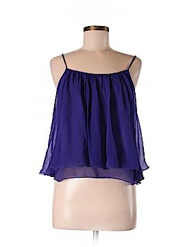 Aryn K. Sleeveless Silk Top Size L