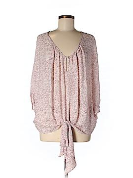Gemma Short Sleeve Silk Top Size S