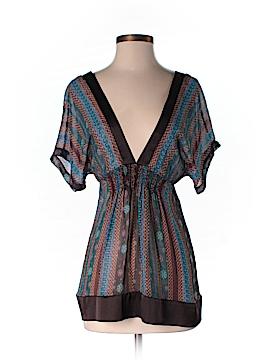 Mint Short Sleeve Silk Top Size M