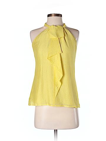 Ann Taylor Women Sleeveless Silk Top Size 2 (Petite)