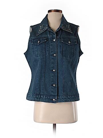 CHRISTINE ALEXANDER Denim Vest Size M