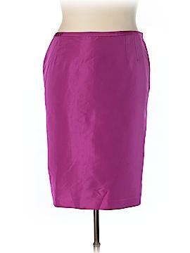 Linda Allard Ellen Tracy Silk Skirt Size 18 (Plus)
