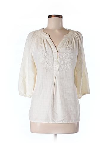 St. John's Bay Women 3/4 Sleeve Blouse Size M (Petite)