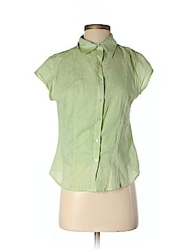 Magazine Short Sleeve Button-Down Shirt Size M