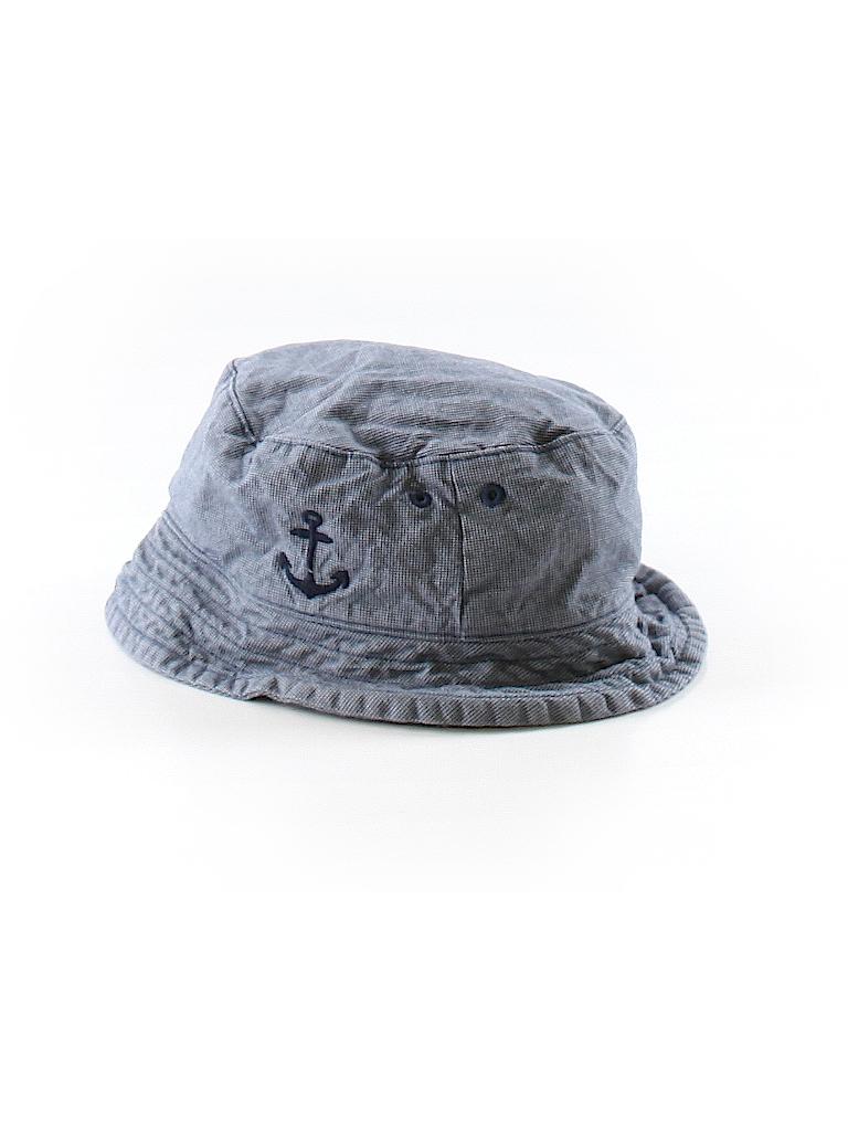 92b87f251f8 Janie and Jack 100% Cotton Chambray Dark Blue Bucket Hat Size 4 - 5 ...