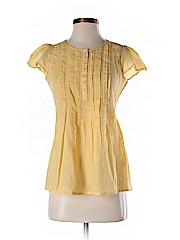 Jill Stuart Women Short Sleeve Silk Top Size S