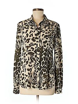 Diane von Furstenberg Long Sleeve Silk Top Size 6