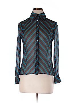Susan Lazar Long Sleeve Silk Top Size 6