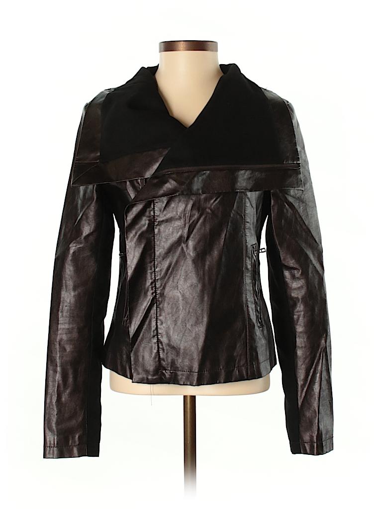 Akira Chicago Black Label Women Faux Leather Jacket Size S