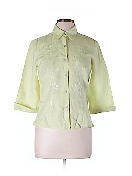 Richard Malcom 3/4 Sleeve Button-Down Shirt Size M
