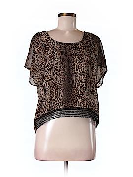 Black Poppy Short Sleeve Blouse Size M