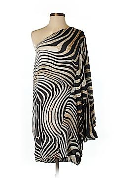 Just Cavalli Short Sleeve Silk Top Size 44 (IT)
