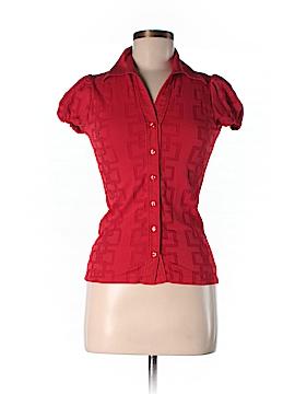 NaraCamicie Short Sleeve Button-Down Shirt Size 2
