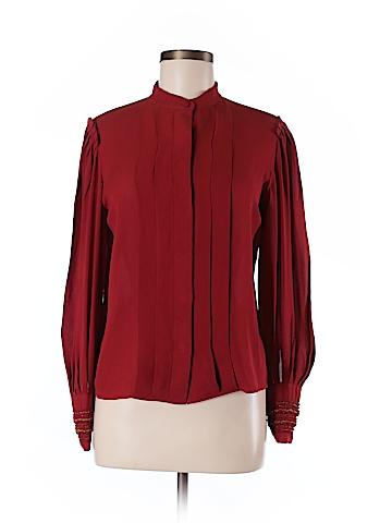 3.1 Phillip Lim Long Sleeve Silk Top Size 6