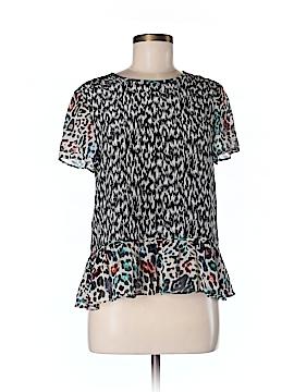 Marchesa Voyage Short Sleeve Silk Top Size 4