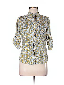 Creme Fraiche 3/4 Sleeve Button-Down Shirt Size S